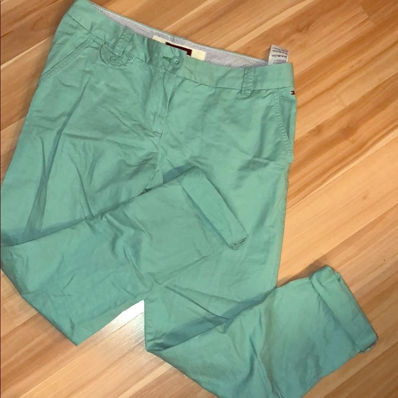 Tommy Hilfiger Pants - Tommy Hilfiger Turquoise Chinos